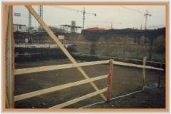 11 aprile 1993: Viale Ratto delle Sabine visto dalla strada che verrà chiamata Via Conti di Rieti.