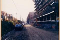 Gennaio 1994: cominciano a nascere i palazzi. Gli edifici ai lati del viale sono a buon punto.