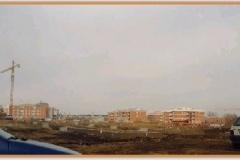 Gennaio 1995: futuro parcheggio fronte chiesa.