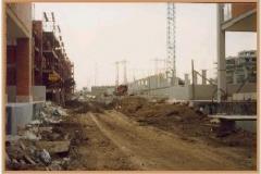 Gennaio 1995: villini e palazzi in Via Conti di Rieti.