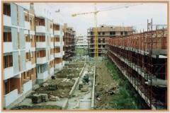 Settembre 1995: stato avanzamento lavori di Via Conti di Rieti.