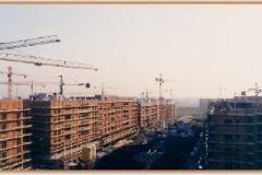 Gennaio 1994: vista dall'alto in direzione della futura piazza con fontana.